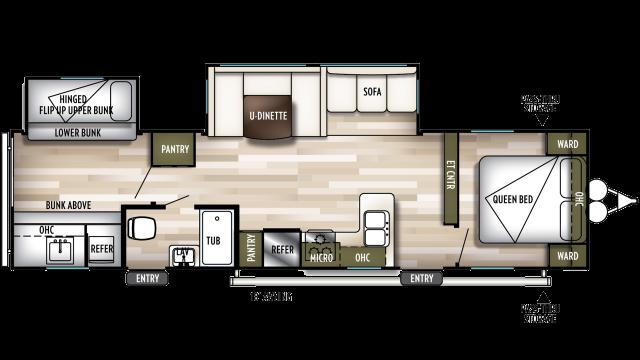 2020 Wildwood 32BHDS Floor Plan