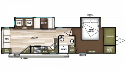 2020 Wildwood 32RLDS Floor Plan Img