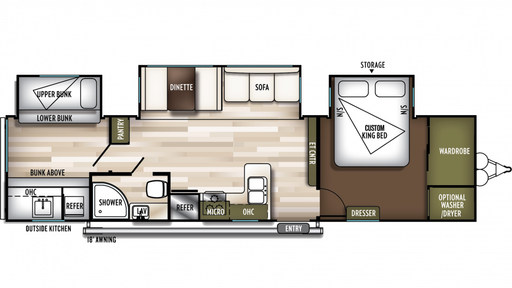 2020 Wildwood 33TS Floor Plan Img