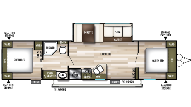 2020 Wildwood 37BHSS2Q Floor Plan