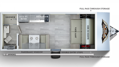 2020 Wildwood FSX 167RB Floor Plan Img