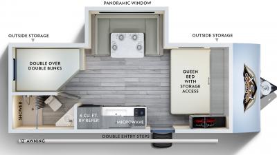 2020 Wildwood FSX 178BHS Floor Plan Img