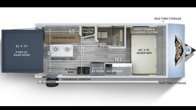 2020 Wildwood FSX 181RT Floor Plan Img