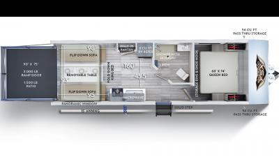 2020 Wildwood FSX 210RT Floor Plan Img