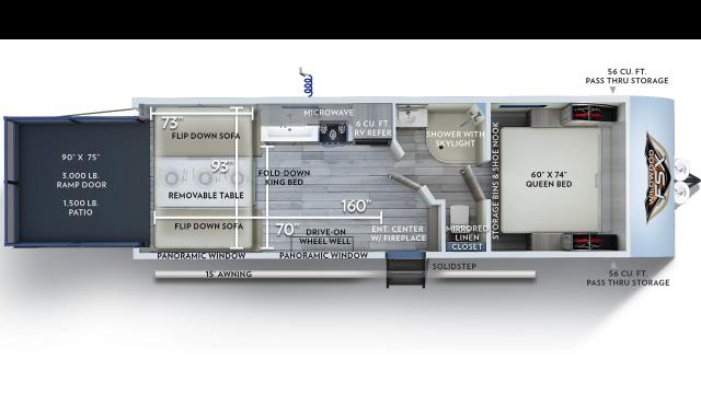 2020 Wildwood FSX 260RT Floor Plan