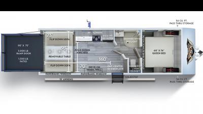 2020 Wildwood FSX 260RT Floor Plan Img