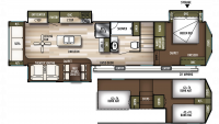 2020 Wildwood Grand Lodge 42DL Floor Plan