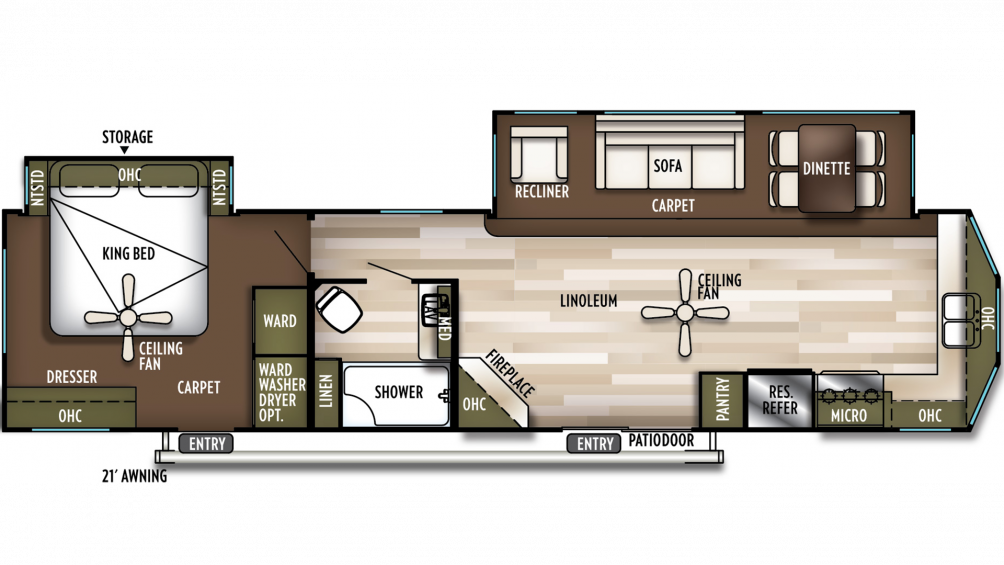 2020 Wildwood Lodge 394FKDS Floor Plan Img