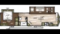 2020 Wildwood Lodge 394FKDS Floor Plan