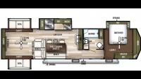2020 Wildwood Lodge 395RET Floor Plan