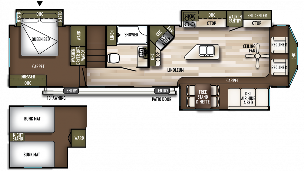 2020 Wildwood Lodge 4092BFL Floor Plan Img