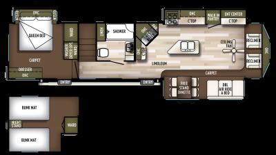 2020 Wildwood Lodge 4092BFL Floor Plan Img
