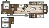 2020 Wildwood Lodge 4092BFL Floor Plan