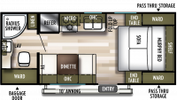 2020 Wildwood X-Lite 171RBXL Floor Plan