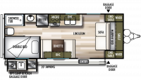 2020 Wildwood X-Lite 19DBXL Floor Plan