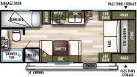 2020 Wildwood X-Lite 201BHXL Floor Plan
