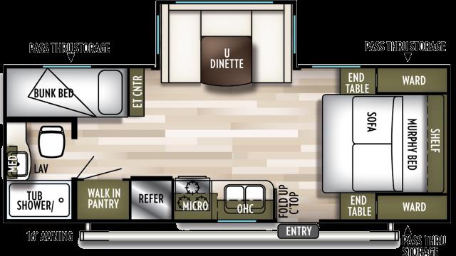 2020 Wildwood X-Lite 230BHXL Floor Plan