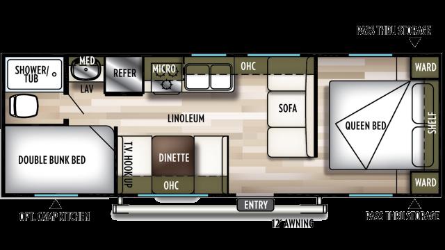 2020 Wildwood X-Lite 261BHXL Floor Plan