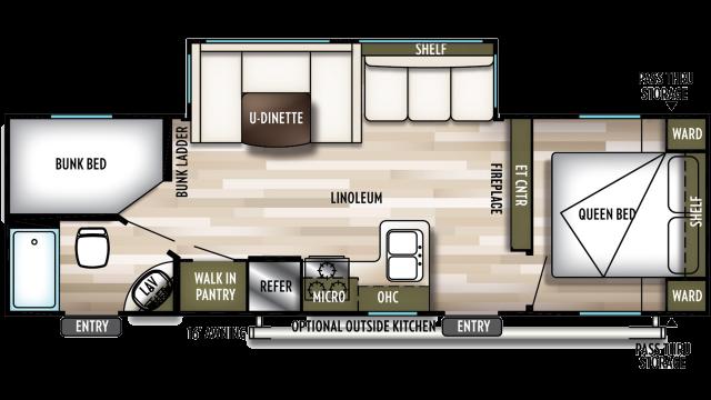 2020 Wildwood X-Lite 263BHXL Floor Plan