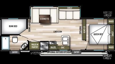 2020 Wildwood X-Lite 263BHXL Floor Plan Img