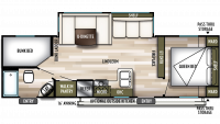 2020 Wildwood X-Lite 263BHXL Floor Plan
