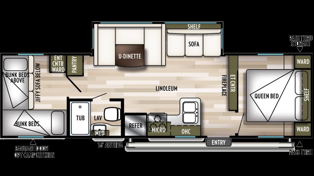 2020 Wildwood X-Lite 273QBXL Floor Plan Img