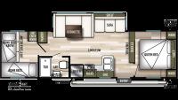 2020 Wildwood X-Lite 273QBXL Floor Plan