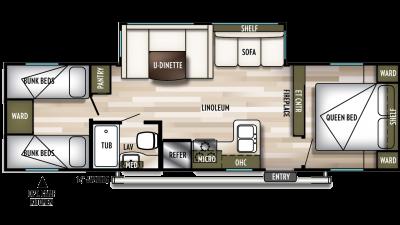 2020 Wildwood X-Lite 282QBXL Floor Plan Img