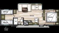 2020 Wildwood X-Lite 282QBXL Floor Plan