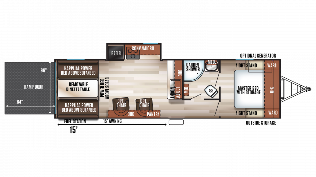 2020 Wolf Pack 23PACK15 Floor Plan