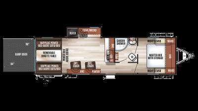 2020 Wolf Pack 23PACK15 Floor Plan Img