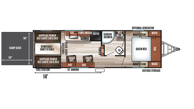 2020 Wolf Pack 24GOLD14 Floor Plan