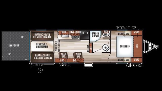 2020 Wolf Pack 24PACK14+ Floor Plan