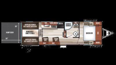 2020 Wolf Pack 24PACK14+ Floor Plan Img