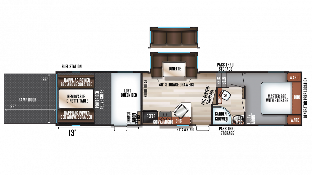 2020 Wolf Pack 295PACK13 Floor Plan Img