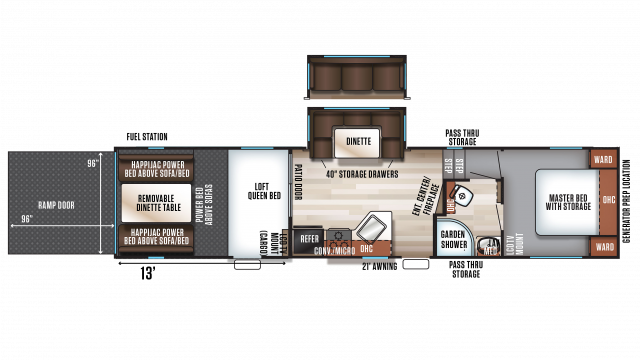 2020 Wolf Pack 295PACK13 Floor Plan