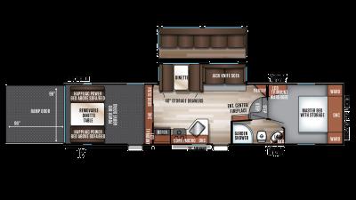 2020 Wolf Pack 315PACK12 Floor Plan Img