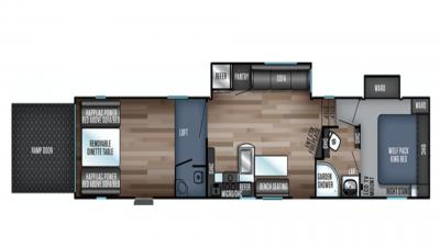 2020 Wolf Pack 365PACK16 Floor Plan Img