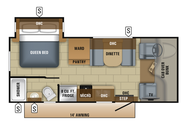 2018 Redhawk 22J Floor Plan