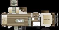 2019 Cougar Half Ton 27RLS Floor Plan