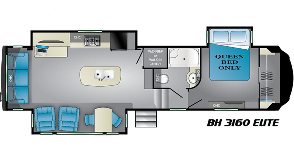 2019 Bighorn 3160EL Floor Plan Img