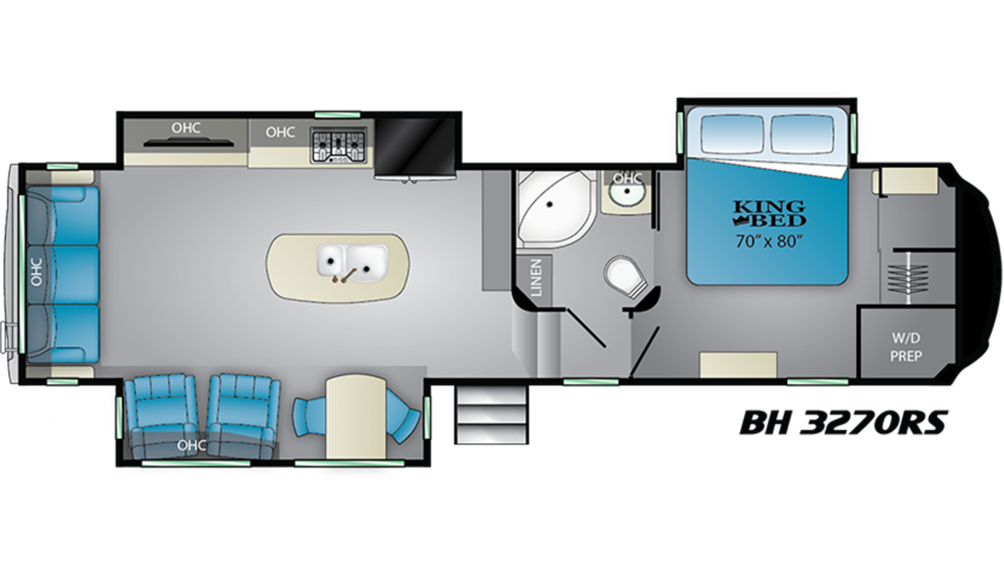 2019 Bighorn 3270RS Floor Plan Img
