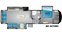 2019 Bighorn 3270RS Floor Plan