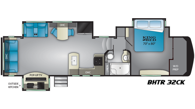 2019 Bighorn Traveler 32CK Floor Plan Img