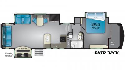 2019 Bighorn Traveler 32CK Floor Plan Img