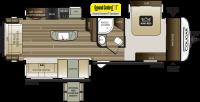 2019 Cougar Half Ton 32RLI Floor Plan