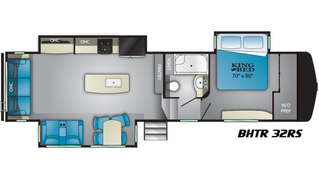 2019 Bighorn Traveler 32RS Floor Plan Img