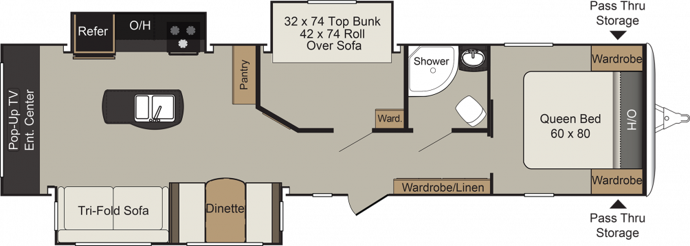 2018 Passport Elite 34MB Floor Plan Img