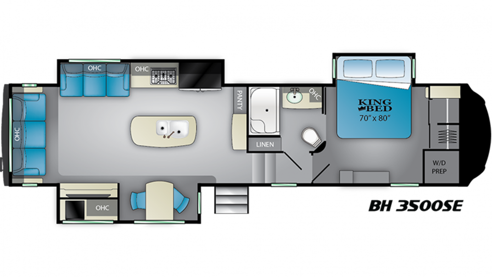 2019 Bighorn 3500SE Floor Plan Img