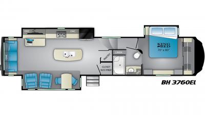 2019 Bighorn 3760EL Floor Plan Img